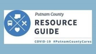 resource guide symbol with utensils, heart, transportation