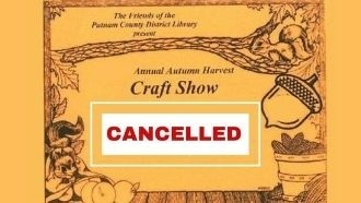 cancelled craft show with fall scenery