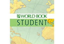 World Book Student on a map