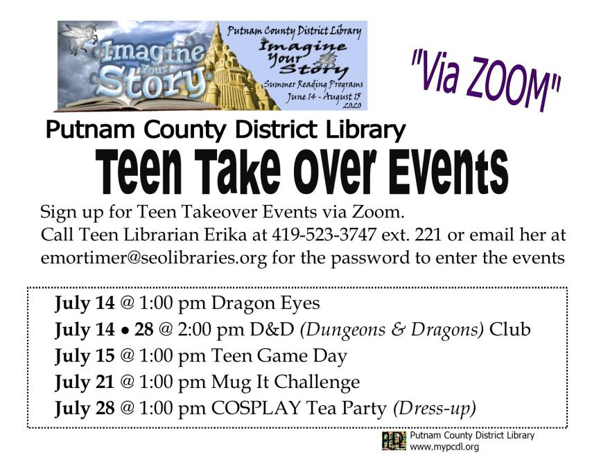 Teen TakeOver Events