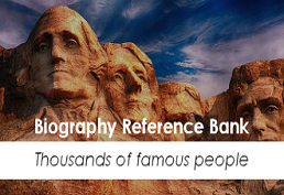 Biography Reference Bank Thousands of Famous People