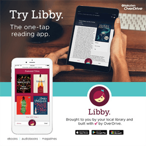 try libby the one tap reading app libby brought to you by your local library and built with two hearts by Overdrive ebooks audiobooks magazines